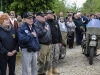 Veterans, Soldiers, Airmen and French citizens attend a ceremony at the Currahee Memorial in Beuzeville au Plain, France, June 1, 2016. More than 380 service members from Europe and affiliated D-Day historical units are participating in the 72nd anniversary as part of Joint Task Force D-Day 72. (U.S. Air Force photo by Staff Sgt. Timothy Moore)
