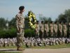 During this event, 101st Airborne Division (Air Assault) soldiers and veterans take part in the memorial ceremony, honoring the veterans and fallen Soldiers of the 101st. (U.S. Army, Spc. Jordy Harris)
