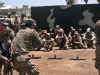 U.S Army trainers with Company A, 1st Battalion 502nd Infantry Regiment, Task Force Strike, demonstrate a room clearing technique at the request of the Iraqi ranger student leadership at Camp Taji, Iraq, July 18, 2016. Company A instruct at the Iraqi ranger training program as part of their building partner capacity and advise and assist mission. Camp Taji is one of four Combined Joint Task Force – Operation Inherent Resolve build partner capacity locations dedicated to training Iraqi security forces. (U.S. Army photo by 1st Lt. Daniel Johnson/Released)