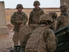 Staff Sgt. Carlos Mont, Battery C, 1st Battalion, 320th Field Artillery Regiment, Task Force Strike, oversees his section's crew drill during a fire mission to support the Iraqi security forces during the Mosul counter offensive, Dec. 24, 2016, in northern Iraq. Battery C is supporting the ISF with indirect fires in their fight against ISIL. (U.S. Army photo by 1st Lt. Daniel Johnson)