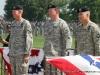 Maj. Gen. Jeffery J. Schloesser, General Charles C. Campbell, and the new commander Maj. Gen. John F. Campbell