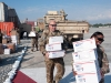 1st Sgt. Tommy Daigle, B Company, 5th Battalion, 101st Combat Aviation Brigade helps pick up the mail for his company on the flight line at Forward Operating Base Fenty, Afghanistan Dec. 11, 2012. Mail is one of the biggest boosts to morale in a deployed unit. (U.S. Army photo by Sgt. Duncan Brennan)