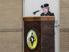 Lt. Gen. Karen Dyson, the Military Deputy to the Assistant Secretary of the Army (Financial Management and Comptroller), speaks to the audience, June 25, 2017, during the memorial rededication ceremony at the Defense Military Pay Office on Fort Campbell, Kentucky. Dyson was the guest speaker during the ceremony, which was conducted in honor of Capt. Luis A. Avillan and Staff Sgt. Michael A. Murray, who were part of the Fort Campbell finance team, who passed during the Gander plane crash on Dec. 12, 1985, during their return from a peace keeping mission in Sinai, Egypt. (Sgt. Neysa Canfield/101st SBDE Public Affairs)