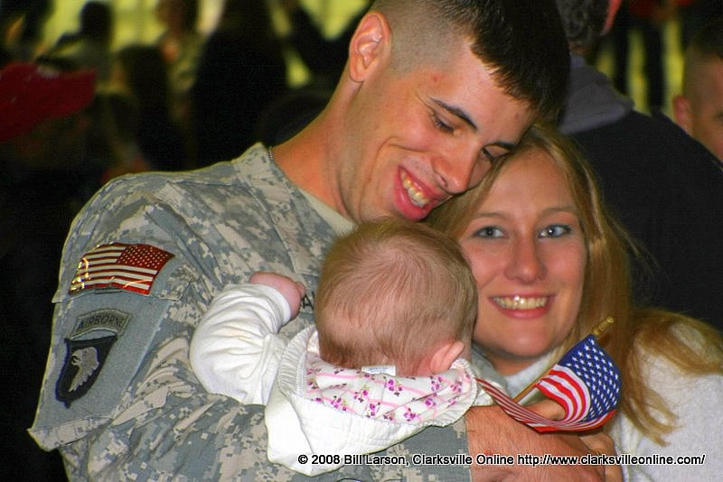 A family reunited after a deployment