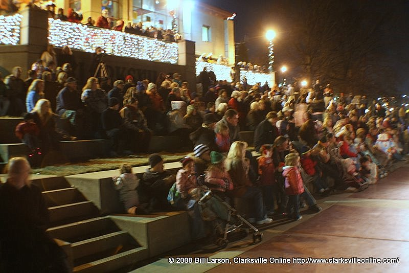 A view of some of the crowd attending the official lighting at Christmas on the Cumberland