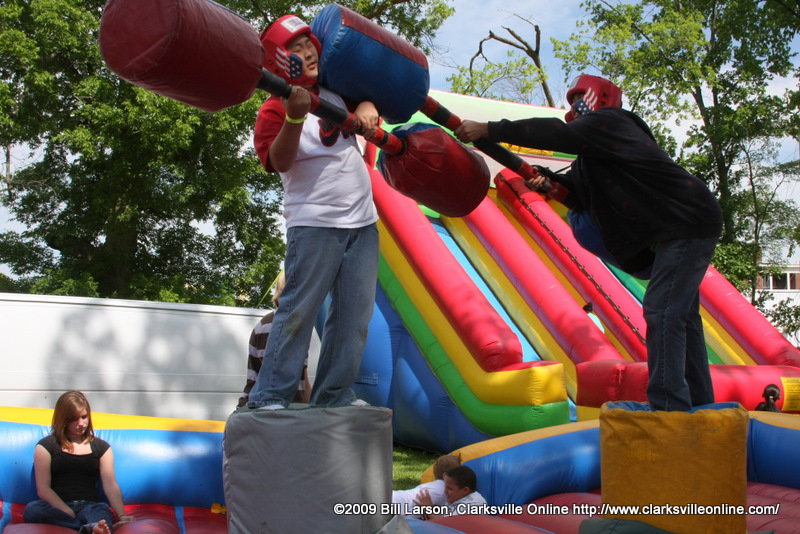 Kids joust for King of the Mountain honors