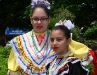 Two colorful Ballet Folklorico Viva Panama dancers
