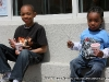Two young men enjoy a Iced drink from Repicci\'s