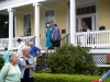 Historic Homes Tour participants leaving the Frech-Buck House at 102 Union Street.