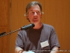 "George Singleton George Singleton, author of often humorous stories of the rural South, including ""Work Shirts for Madmen,"" and ""Pep Talks,"" ""Warnings"" and ""These People Are Us,"" ""The Half-Mammals of Dixie,"" ""Why Dogs Chase Cars"", gives his speech after the Luncheon on Saturday at the 2009 Clarksville Writers\' Conference"