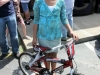 Trinity Babbs with her new bicycle.