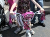 Chloe Woodall with her new bicycle.