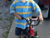 Malachi Miller with his new bicycle.