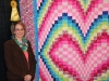 3rd Place - Heart Bargello - by Dana Fucella, quilted by Amish Ladies in KY