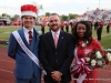 APSU Homecoming King and Queen, Amber James and Brandon Herbert with Victor Felts.