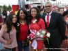 APSU Homecoming Queen Amber James and her family.