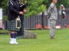 "A bag piper braves the elements as he plays ""Amazing Grace,"" during the annual 5th SFG(A) Memorial Ceremony on Gabriel Field, May 16, 2015, at Fort Campbell, Ky. (U.S. Army photo by Sgt. Justin A. Moeller, 5th SFG(A) Public Affairs)"