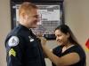 Sergeant Badge Pinning- Sergeant Rosencrants and Veronica