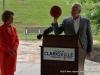 Clarksville Mayor Kim McMillan and Richard V. Stevens