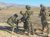 "Soldiers from the Afghan National Army, 1st Brigade, 203rd Corps, employ their 82mm mortar system during a live-fire exercise that marked the conclusion of a two-week mortarmen course at the Fires Center of Excellence, Camp Parsa, Afghanistan, Jan. 3, 2013. The FCOE, a school developed and mentored by Soldiers from 3rd Battalion, 320th Field Artillery Regiment, 3rd Brigade Combat Team ""Rakkasans,"" 101st Airborne Division (Air Assault), is designed to teach sustainable practices and methods that will allow the ANA to engage the enemy effectively with improved capabilities. (U.S. Army photo by 1st Lt. Bryan Spear, 3-320th FA, Unit Public Affairs Representative)"