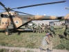 Afghan National Army soldiers from 1st Kandak, 4th Brigade, 201st Corps, climb into an Afghan Air Force Mi-17 helicopter for transport to Forward Operating Base Connolly after a successfully leading and executing a clearing operation near the village of Hesarak, Nangarhar Province, Afghanistan, May 17. (U.S. Army photo by Spc. Vang Seng Thao, 55th Signal Company, Combat Camera)