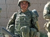 An Afghan National Army soldier from 1st