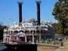 American Queen Steamboat docks in Clarksville