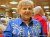 """Mrs. Barbee enjoys new artwork at \""""Evening withthe Artists\'"""