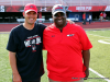 Austin Peay head football coach Will Healy (left) and APSU Athletic Director Gerald Harrison (right).