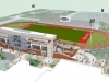 Architect schematics from Rufus Johnson Associates show how the APSU football stadium will look after renovations.