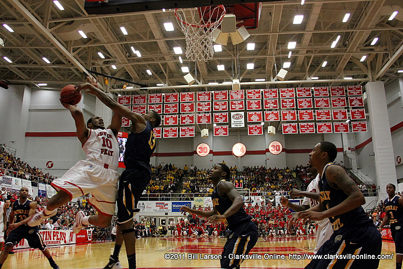 Austin Peay Governors Basketball lose to Murray State at the Dunn Center Saturday night ...