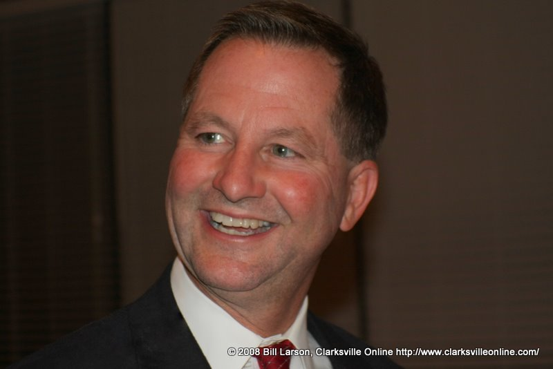 A smiling Tim Barnes after vote tally announcement