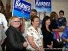 Jubilant supporters cheer Barnes
