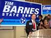 Tim Barnes addresses media at press conference