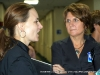 Linda Barnes listens to convention attendant