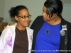 Candy Johnson, candidate for Wad 5 City Council seat, chats with young future voter