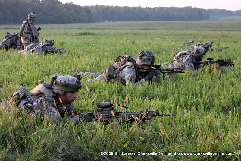 Soldiers of Bravo Company, 3-187 Infantry Regiment, 101st Airborne Division (Battlehard)