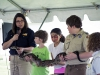 Jacqueline Menish from the Nashville Zoo, introduced a boa constrictor to some brave Campbell Crossing residents.