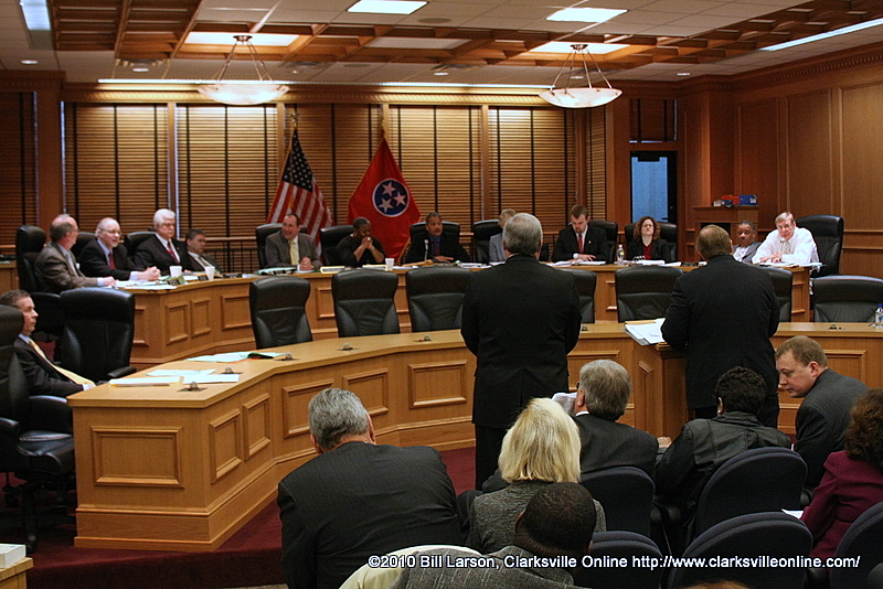 The Tennessee State Legislature holding a hearing during the first attempt to change Clarksville's City Charter
