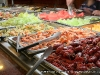 Seafood, fresh fruits, and vegatables