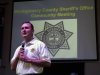 Montgomery County Sheriff John Fuson tells those in attendance a bit about the functions of the Sheriff's Office.