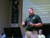 Sgt. Steve Heise educates citizens on how to protect themselves from burglaries.