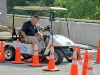 """Using """"DUI goggles"""" and """"Text While Driving"""" while driving a golf cart through a serpentine course."""