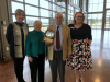 Frank Goodlett and his wife Julia being honored on his retirement (From left: Debbie Reynolds, Julia Goodlett, Frank Goodlett, and Deb Haines-Kulick (CAR Executive Officer)