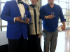 Sheldon Huber and Robert Garcia receiving Distinguished Education Award