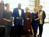 Megan Rivera, Sheldon Huber, Joann Garcia, and Melissa Powers Receiving Educational Achievement Awards