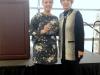 Kaitlyn Bonds receiving the 2017 President's Award from Debbie Reynolds (from left)
