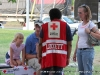 The American Red Cross provides first aid