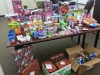 Ten Children at the Salvation Army receive gifts from Clarksville officers, Sheriff's Deputies and 911 Dispatchers on Christmas Day.