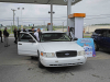 Clarksville Police Officers arrest U.S. Bank Robbery Suspect at Circle K Gas Station on Tiny Town Road. (Jim Knoll, CPD)